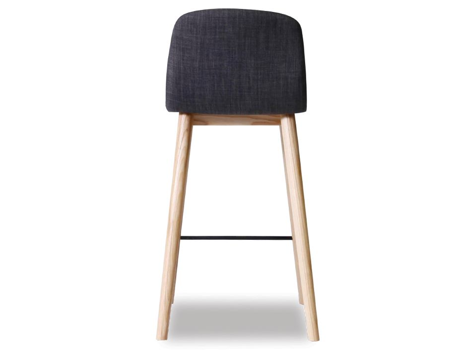 Castle Scandinavian Timber Bar Stool