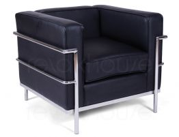 Le-Corbusier-Single-Lounge---Black-1