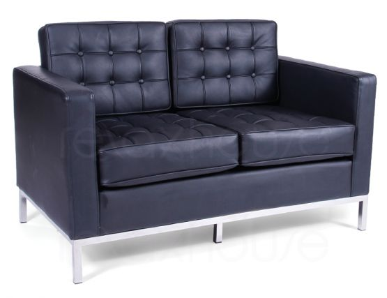 Florence Knoll Double Lounge Black