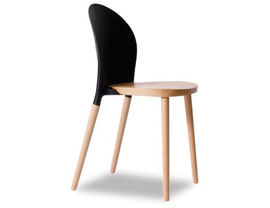 Modern Black Cafe Chair