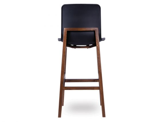 Ara Stool   Black Plastic Walnut2
