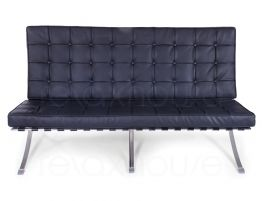 Barcelona Chair Double Black 1