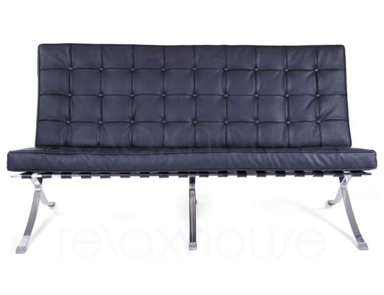 Barcelona Chair Double Black
