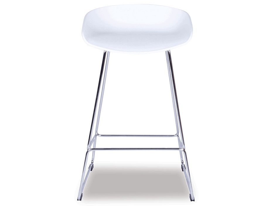 Kobe Stool Chrome_white