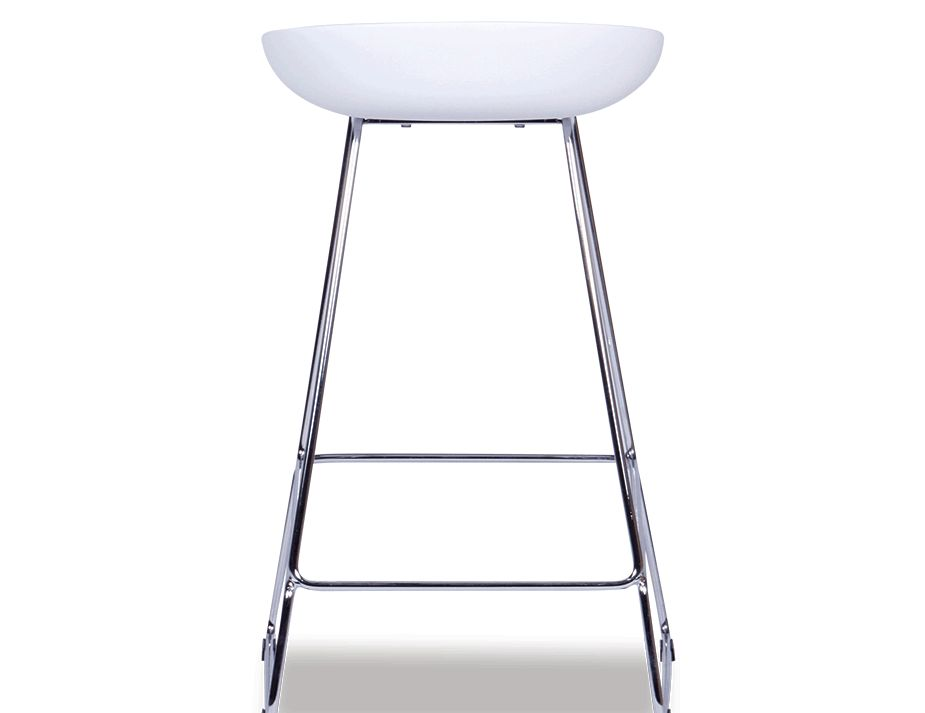 Kobe Stool Contemporary White