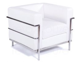 Le-Corbusier-Single-Lounge-White