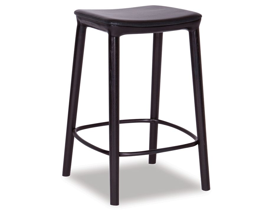 Romy Bar Stool Black American Ash With Matt Black