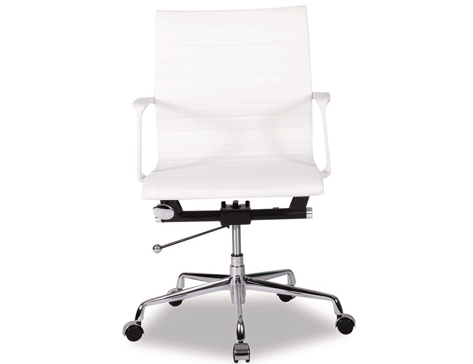 Replica_Eame_Management_Low_Back_Office_Chair_White_Leather