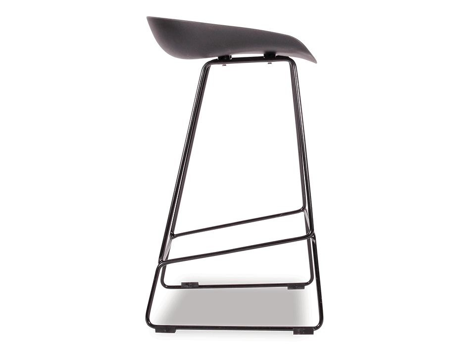 KOBE_Stool_Black_Sled_