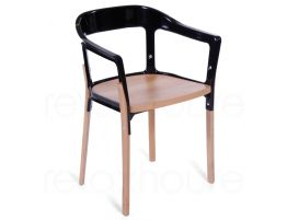 Magnis Steel Wood Chair Black