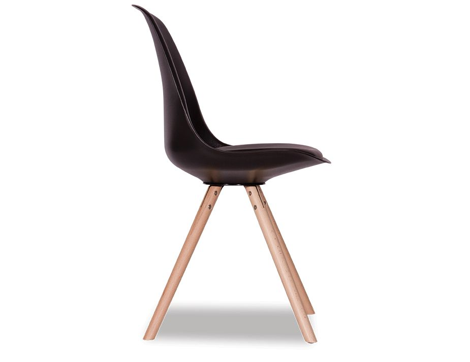 Black Padded_Dining Chair