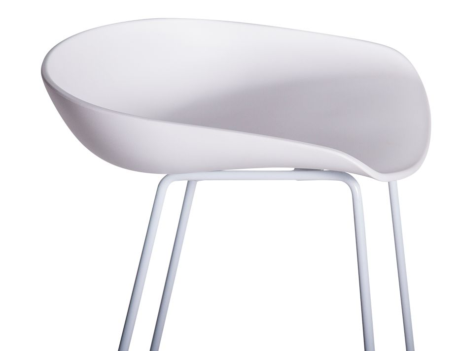 KObe_Stool_white_frame_Shell
