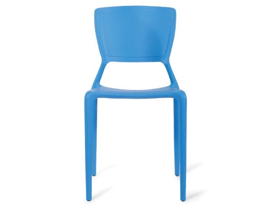 Blue Plastic Stackable Cafe Chair