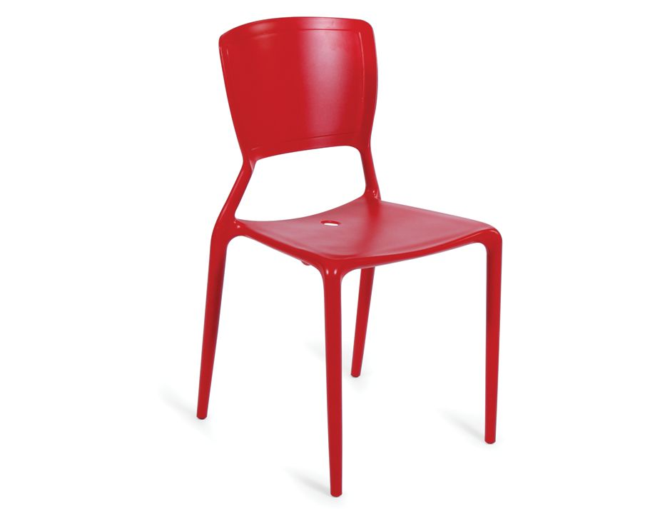 Red outdoor cafe chair - Red plastic outdoor chairs ...