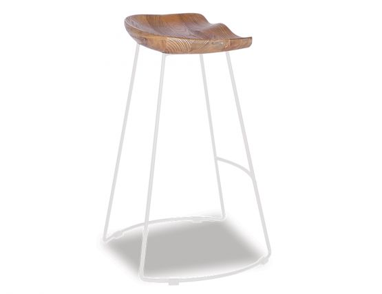 Tier Timber Counter Stool_white_Frame_Walnut