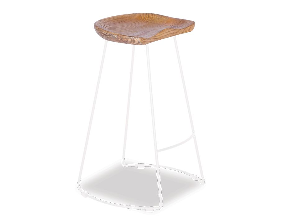 Tier Timber Counter Stool _white_Frame_Walnut