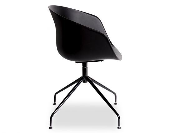 Black Ponte_Dining_Chair_ Black_Aluminium_Legs