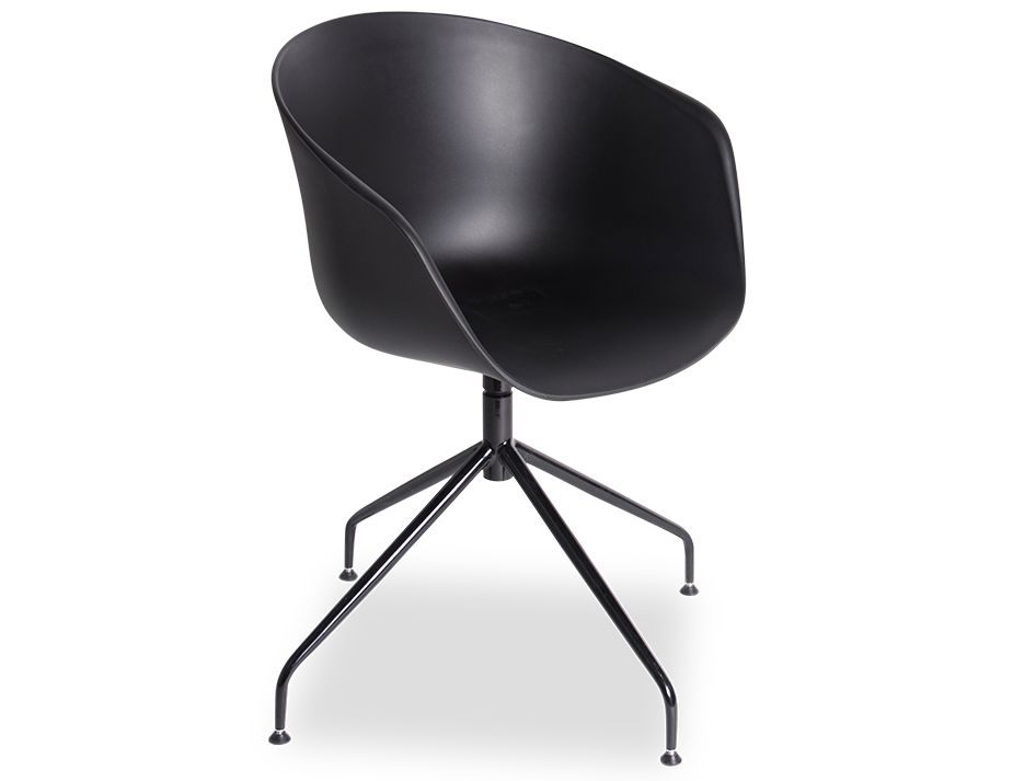 Black Ponte_Dining_Chair_ Black_Aluminiu_Legs