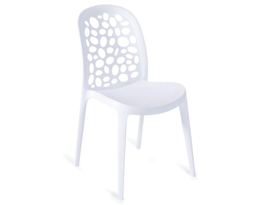 Modern Designer Cafe Chair In White
