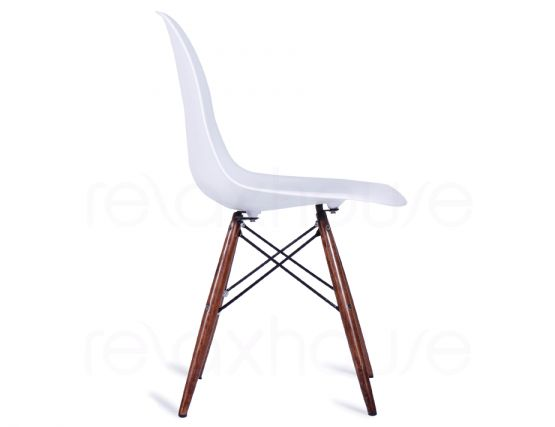 Eames DSW Chair White Dark Wood 2