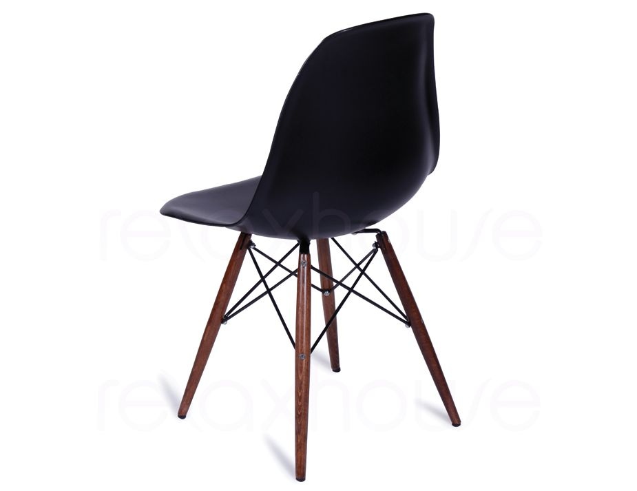 Dsw retro black dining chair eames eiffel for Table eames dsw