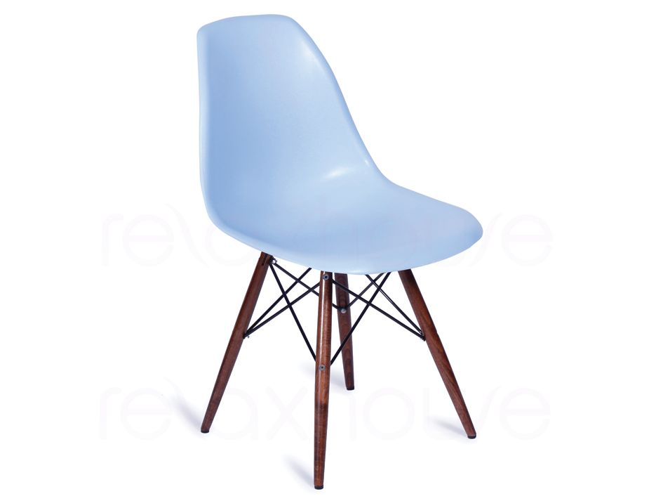 Light blue eames replica eiffel dsw chair for Reproduction eames dsw