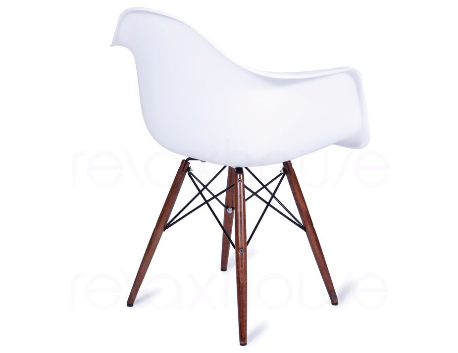 Replica eames wing daw white arm chair dark timber legs for Eames daw reproduktion