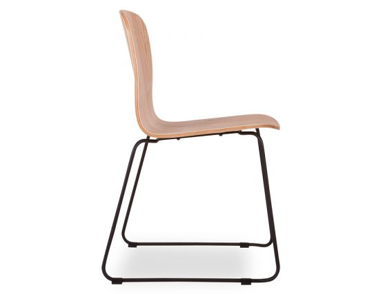 Flip Chair Steel Base Timber Seat