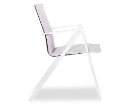 Naxos Arm Chair White Aluminium