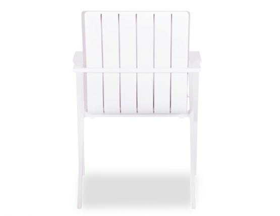 Naxos Outdoor Arm Chair White Aluminium