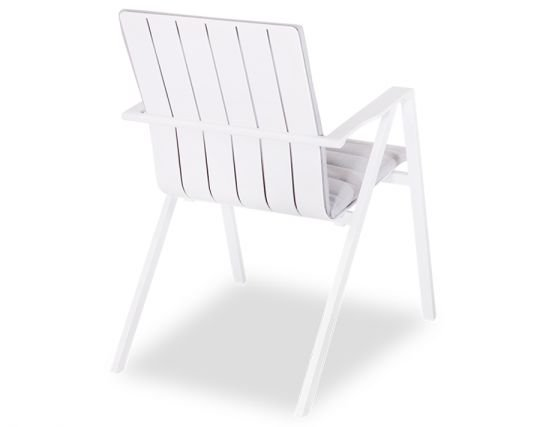 Naxos Outdoor Padded Arm Chair White