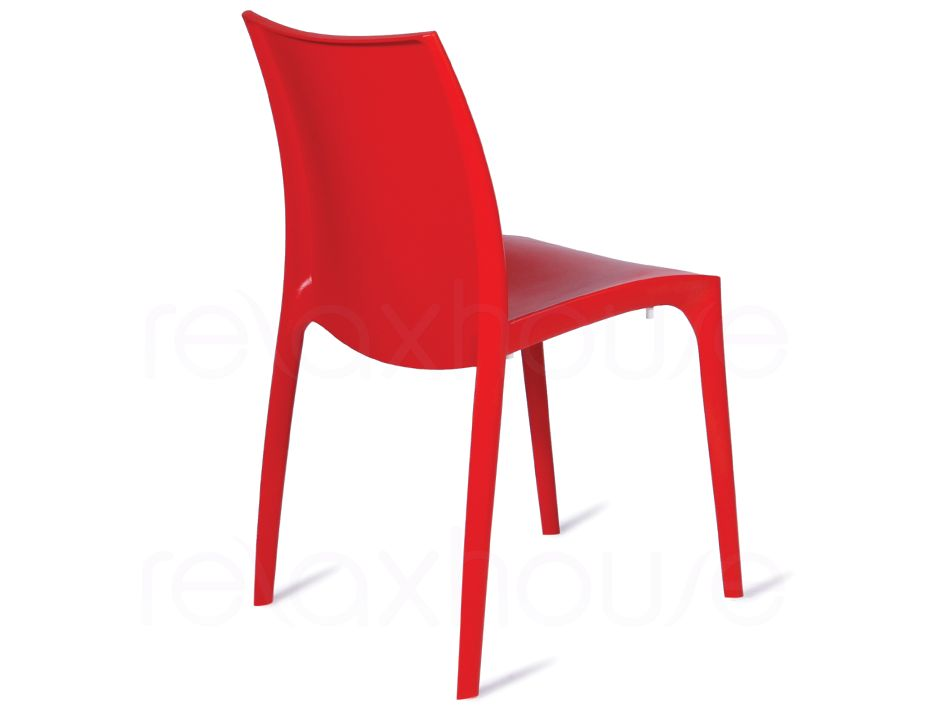 Italian Made Designer Moulded Reinforced Cafe Chair In