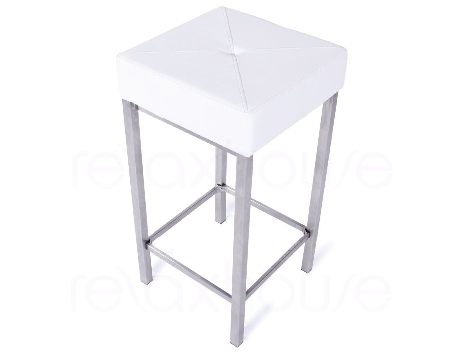 Small Bar Stool White 1