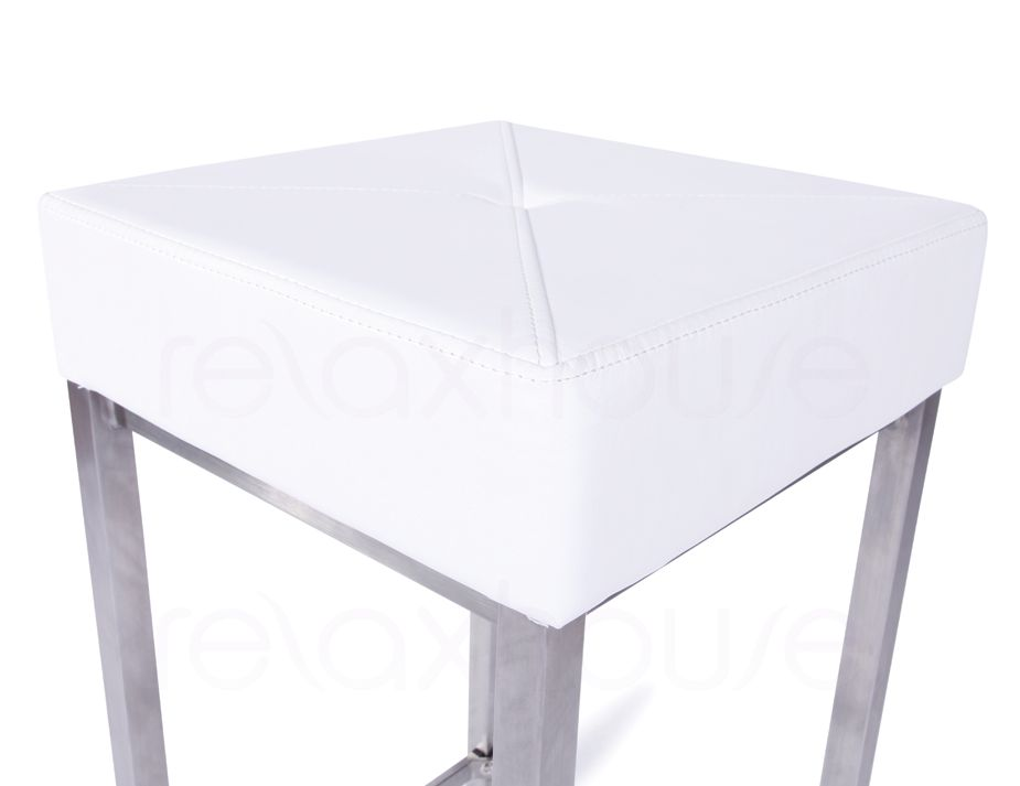 Small Bar Stool White 2