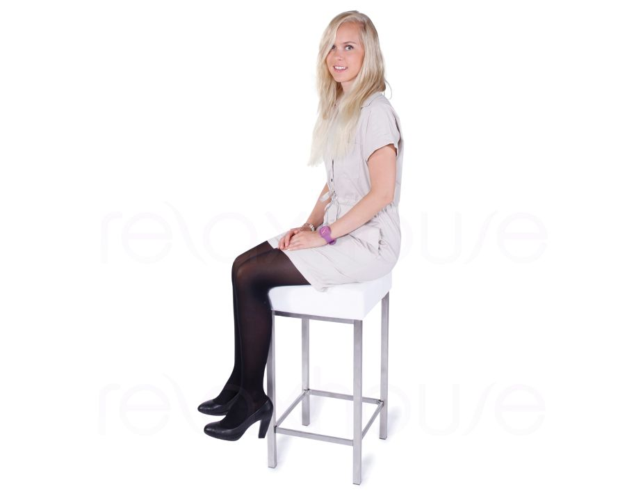 Small Bar Stool White 3
