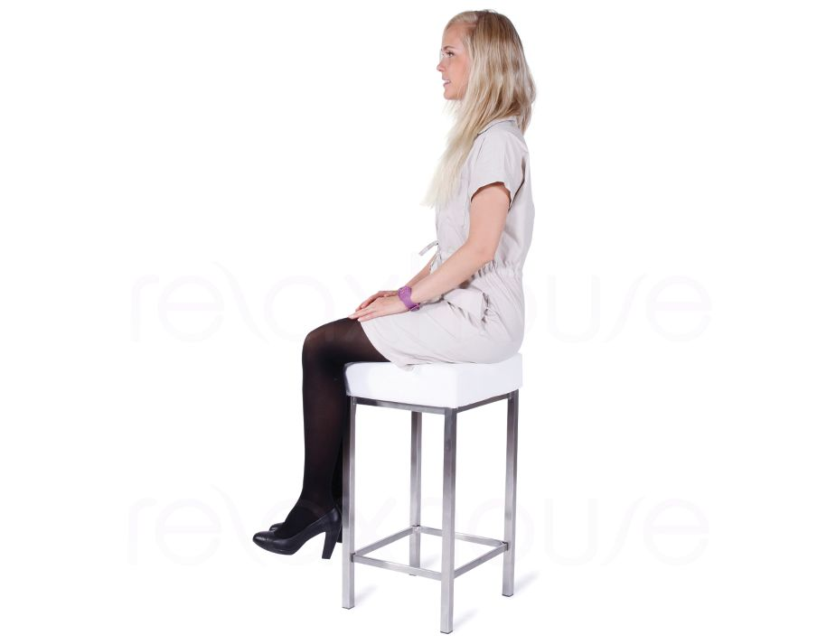 Small Bar Stool White 4
