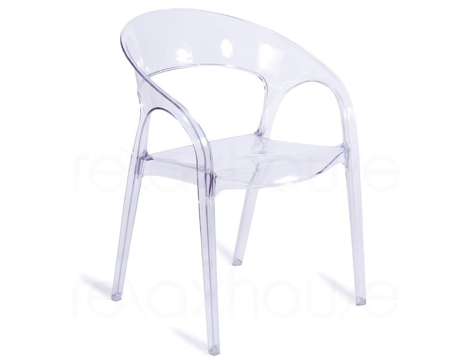 Lovely Replica Louis Ghost Round Chair Clear 4 ...