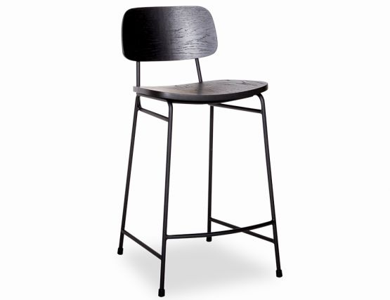 Archie Stool Matte Black Frame With Black Seat