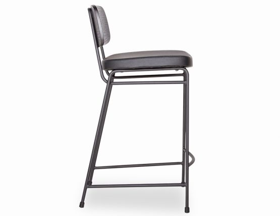 Archie Stool_padded Frame Black