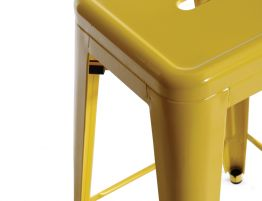 French Bistro Yellow Stool