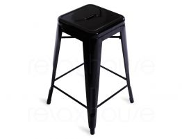Black Large Tolix Stool