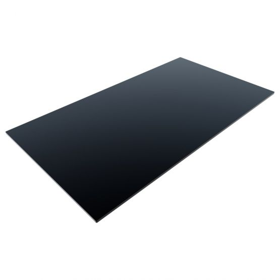 Compact Laminate Top Rectangle Black