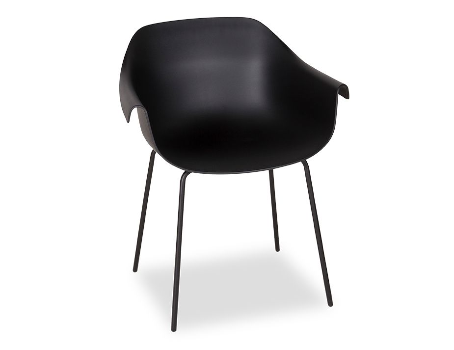 Rh_0038_black Crane Dining Chair With Post Legs