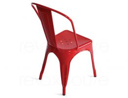 French Red Tolix Chair