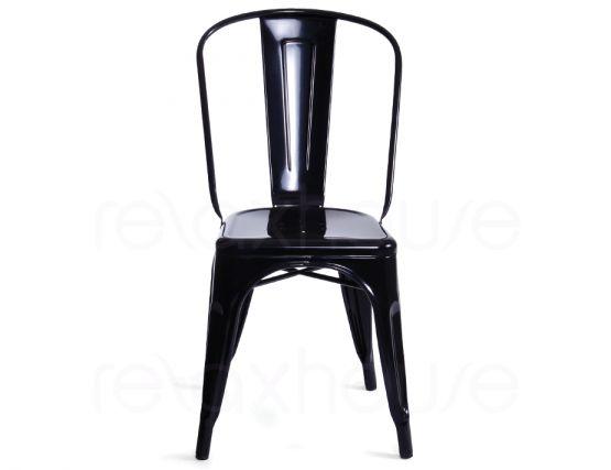 Tolix chair replica black by xavier pauchard for Tolix stuhl replik