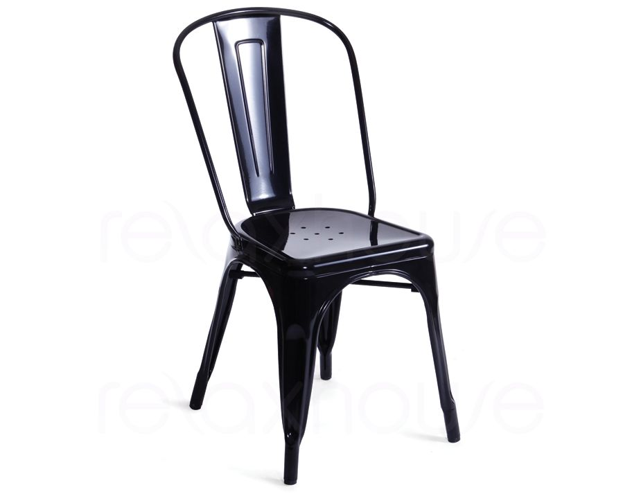 tolix chair replica black by xavier pauchard. Black Bedroom Furniture Sets. Home Design Ideas