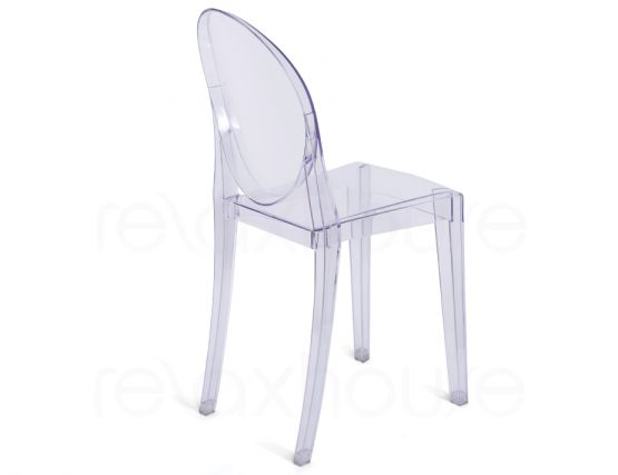 Victoria ghost chair philippe starck clear transparent for Chaise ghost philippe starck