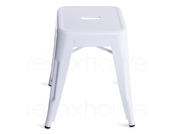Small White Replica Tolix Stool