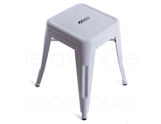 Small White Xavier Pouchard Stool