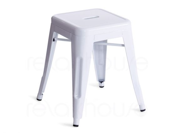 White Small Tolix Stool